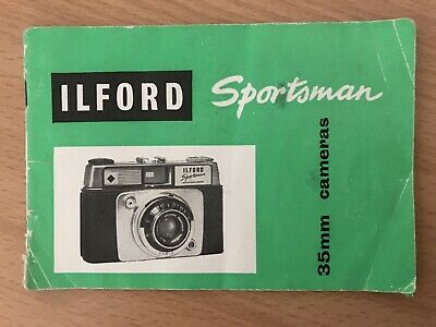 Instruction Manual For Ilford Sportsman 35mm Camera