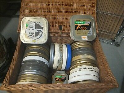 Vintage 16mm Film and Empty Reel Cans - Some untested short ends left