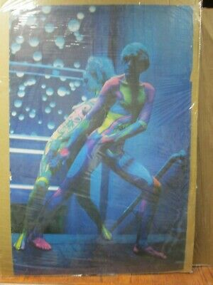 psychedelic body paint Vintage Poster Hot girl 1980's Inv#3977