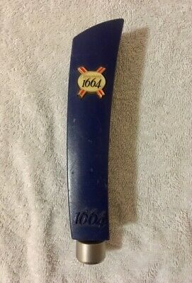 Beer Tap Handle Kronenbourg 1664 Screw Badge Top Free Postage!