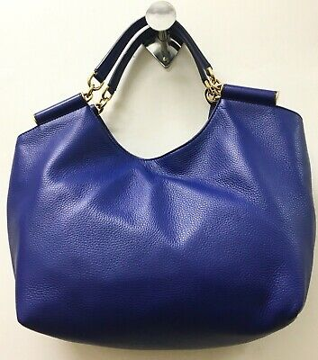b9cd8e676f0 Dolce   Gabbana Miss Sicily Handbag Shoulder Bag Blue Leather Hobo Dustbag