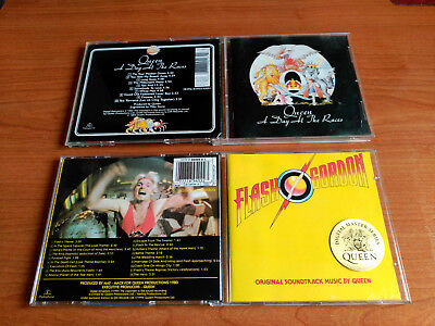 Queen Lot A Day At The Races / Flash Gordon Digital Master Series Remasters Mint
