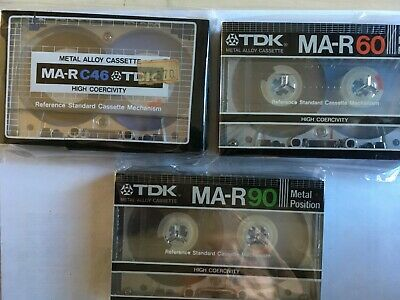 Tdk Ma-R Set Factory Sealed Audio Cassettes Japan