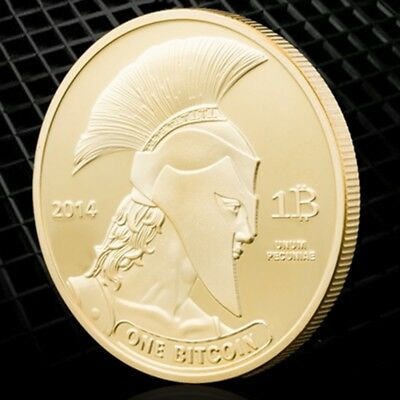 Gold Plated Souvenir Coins Bitcoin 2014 American Knight Of Titan Bitcoin Coin