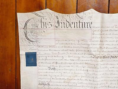 1773 Warwickshire Exchange of land 2 page Vellum Deed Document Indenture