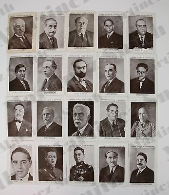 Spanish Civil War Trading Cards Set - Famous Personalities of The 2nd Republic