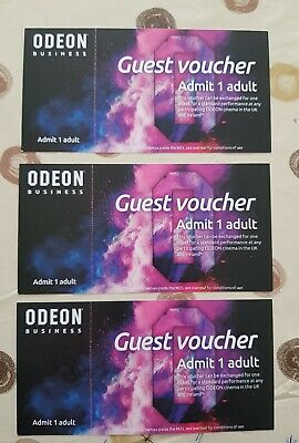 3 x ODEON CINEMA TICKETS excludes cinemas inside the M25