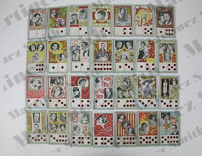 1930's Silent Movie Actors Domino/ Dominoes Trading Cards/ Chromos Collection