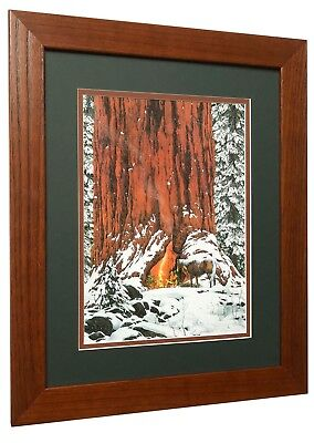 """Bev Doolittle  """"Christmas Day Give or Take a Week""""  Matted and Framed Art Print"""