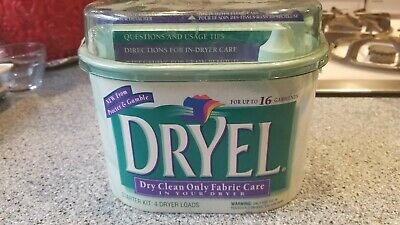 Dryel At Home Dry Cleaning Starter Kit; Dry Clean Only Fabric Care In Your Dryer