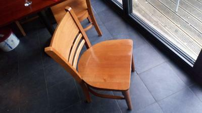 17 Solid wood RESTAURANT CAFE CHAIRS good condition