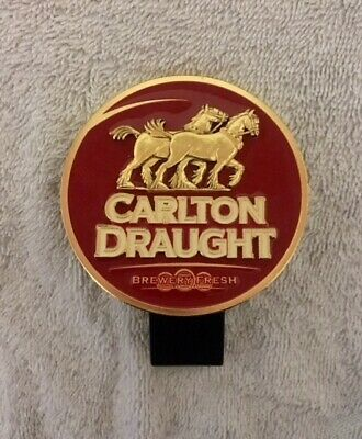 Old Style Carlton Draught Metal Tap Beer Decal Badge Top FREE POSTAGE!