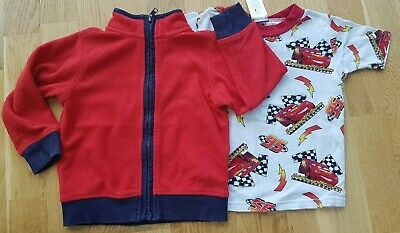 M&S Marks and Spencer 2-3 years boy girl toddler red fleece Disney Cars top