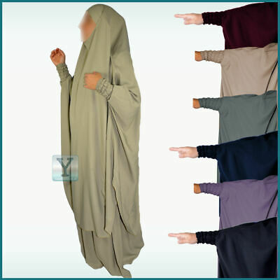 2 pieces premium Nida Jilbab Khimar + Skirt Hijab Abaya Prayer Dress Dubai Niqab