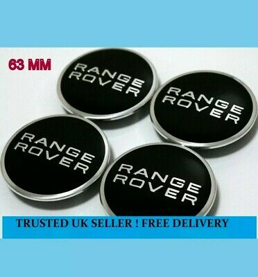4x Range Rover 63mm Centre Caps with 50mm Clips Alloy Wheel Hub Badges Sticker _