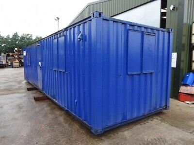 32ft Long 10ft Wide Blue Anti Vandal / Office / Canteen Cabin / Welfare / - Full