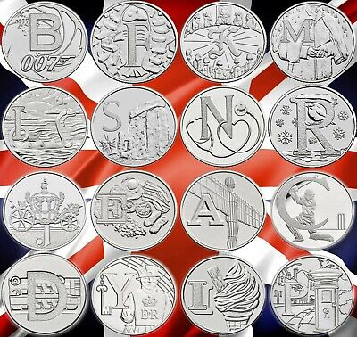 CHEAPEST 2018 & 2019 10p COINS ALPHABET A-Z TEN PENCE ANGEL BOND JUBILEE ROBIN