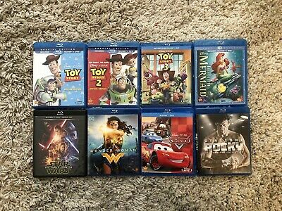 Blu-Ray Movies Lot - Disney - Pixar - Rocky