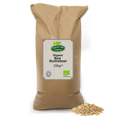 Organic Raw Buckwheat Groats 25kg Certified Organic