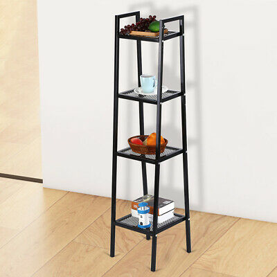 Corner Shelf Rack 4-Tier Office Organiser Unit Ladder Display Bookcase 145 cm