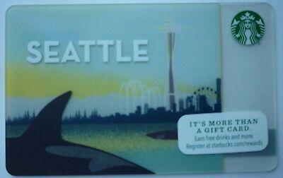 Starbucks City Card Seattle 2015 #6108 Orca Space Needle Great Wheel No Value