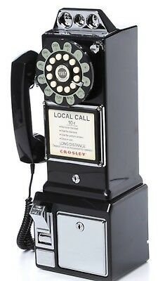 Retro Vintage Bell System Rotary Dial Pay Phone Public Telephone Man CAVE BLK