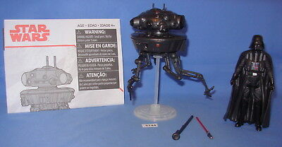 "Star Wars 2017 Imperial Probe Droid & Darth Vader Force Link 3.75""  COMPLETE"