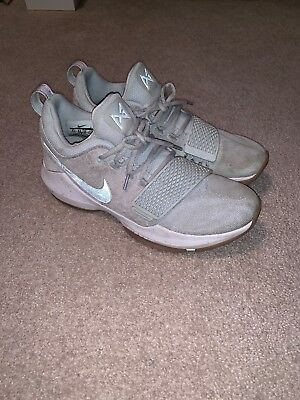 3a261e799d9adc Nike Paul George PG1 Men s Basketball Shoes Pure Platinum  Wolf Grey Size  9.5