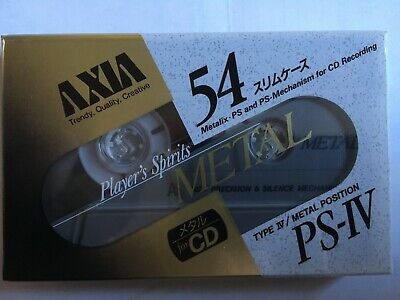 Axia Ps-Iv Metal 54 Factory Sealed Audio Cassette Japan