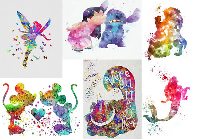 5D Diamond Painting Cross Stitch Disney Colour Splash Character Cartoon Craft UK