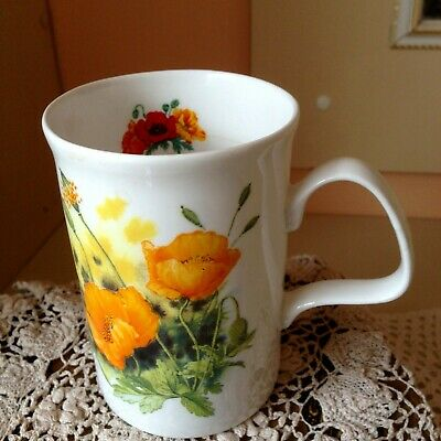 Yellow Poppy's 1991 Design By Roy Kirkham Bone China Robin Gibbard Mug.