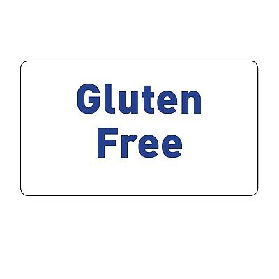 "65 X ""Gluten Free"" Stickers - Food Allergy Labels Stickers Cake Party 1046"