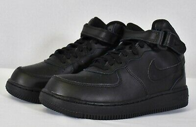 new concept a4ba1 424e8 Nike Kids  Preschool Air Force 1 Mid Basketball Shoe Black  Black (314196  004