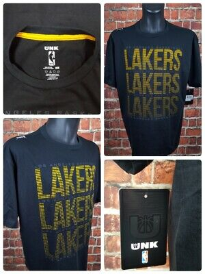 b6e0c9e080c NWT Los Angeles Lakers UNK Men s XL Shirt tshirt Black Textered Basketball