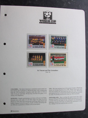 The World Cup Collection - Usa '94 - St Vincent & Grenadines Stamp - 4 Different