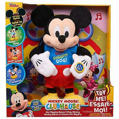 Disney Mickey Mouse Clubhouse Hot Diggity Dance Play Plush Mickey  NEW