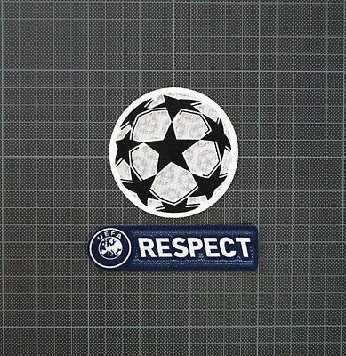 UEFA Champions League Starball & Blue RESPECT Sleeve Patches/Badges 2011-2012