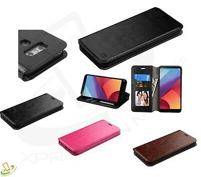 LG Stylo 3 / Plus Leather Flip Card Wallet Case Cover Pouch Folio Book Fold +Kit