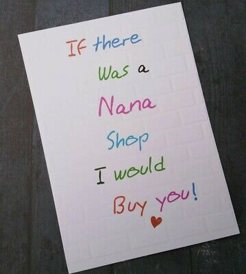 CARDS-If there was a nana shop-Happy Mothers Day Novelty Birthday friendship bff
