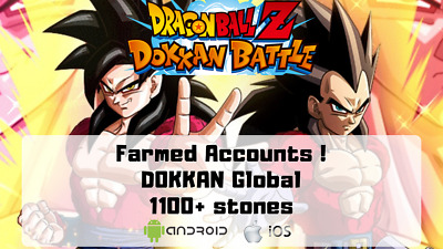 Dokkan Battle Global Farmed Accounts | 1100+Stones