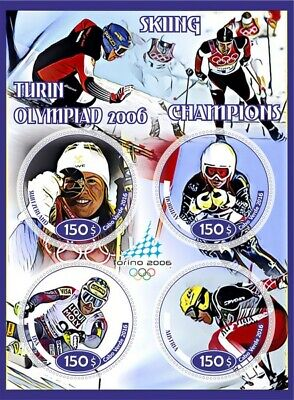Stamps history of olympics - Turin  2006 Champions  skiing