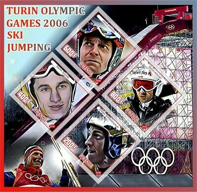 Stamps history of olympics - Turin  2006 Champions  ski jumping