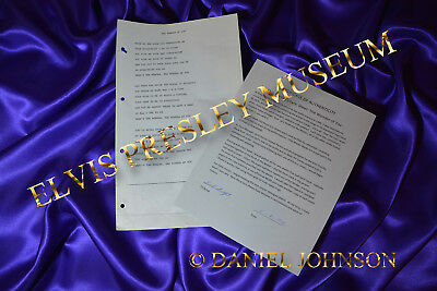 Elvis Presley Owned & Used Lyric Song Sheet 'the Wonder Of You'