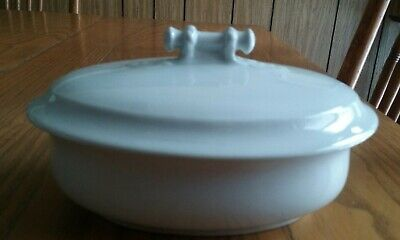 Antique 3-Pc White Ironstone China Soap Dish Insert & Lid - J&g Meakin - England