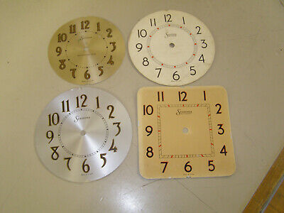 Sessions clock dials (five total, three metal, two identical paper)