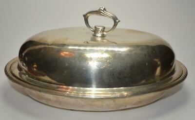 Antique S. Kirk & Son Victorian Sterling 925/1000 covered Oval Dish 36 troy Oz