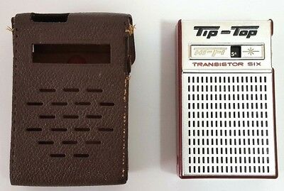 Vintage Tip-Top Hi-Fi Transistor Six Radio Model UR-610 Japan, WORKING L21