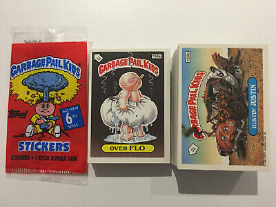 1988 UK Garbage Pail Kids 6th Series COMPLETE Variation Set - Pack Fresh - MINT