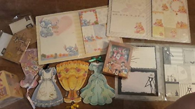Authentic Disney store Japan exclusive stationary princess dresses note UK stock