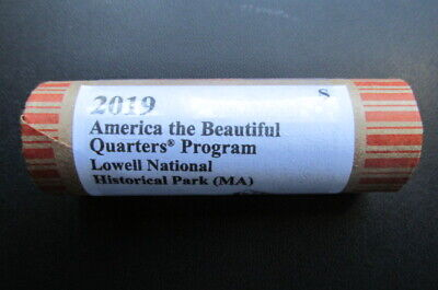 2019-S Lowell National Historical Park ATB Unc. Quarter: 40 Coin Roll. I.D.# PL